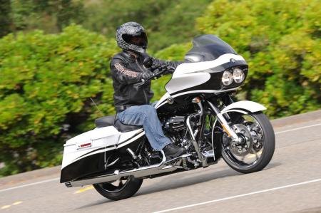 Many in attendance at the press launch of the 2012 CVO models deemed the Road Glide Custom as the best looking bike of the four models. The white model seen here was a jaw-dropper when unveiled during the presentation.