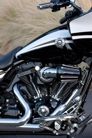 Did someone say dark? Even the RG Custom�s engine is dark, and the skull emblem is a clear indication that Harley�s other sub-line, the Dark Custom series, influenced this CVO model.