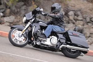 We�re big fans of the Street Glide platform, whether in standard or CVO trim. This year�s CVO SG is outfitted with eight speakers and a 400-watt sound system.