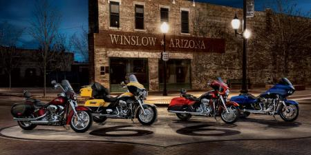 The full lineup of 2012 CVO models from Harley.