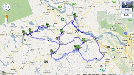 Ottawa Valley Adventure IMG Route