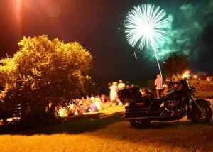Canada Day fireworks at New Liskeard Bikers Reunion