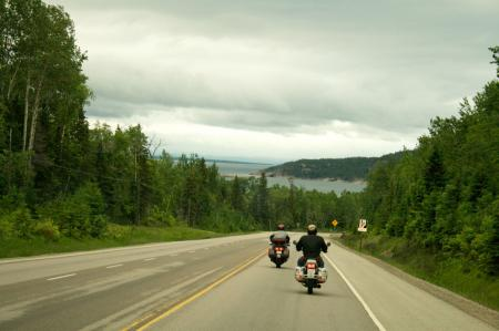 Highway 17 and Lake Superior
