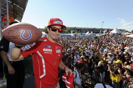A native of nearby Kentucky, Nicky Hayden calls Indianapolis his home race.