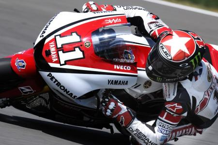 Ben Spies scored another podium result at Indianapolis. The red and white 50th Anniversary Yamaha livery also appears to be good luck for the Texan.