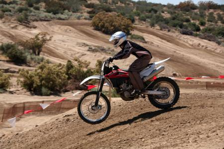 It was fun to toss around the TXC310 on the undulating layout of the Carlsbad-replica MX track at The Ranch in Anza, California.