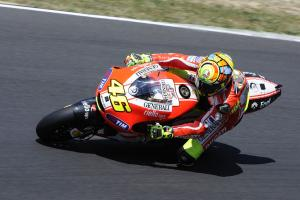 Ducati is mum on what Valentino Rossi was testing at Mugello.
