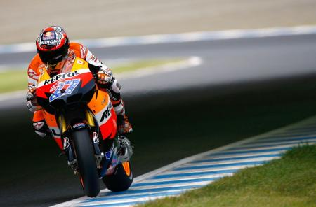 Casey Stoner missed an opportunity to pad his championship lead over Jorge Lorenzo. Photo by GEPA Pictures.