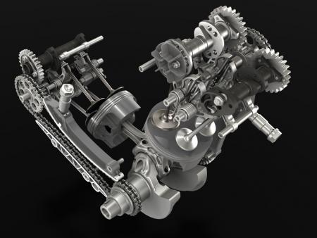 2012 Ducati 1199 Panigale Superquadro Engine Piston and Cams