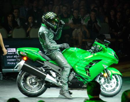 Rickey Gadson rides the 2012 ZX-14R
