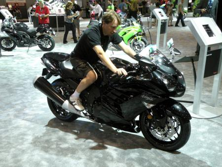 Sitting on the 2012 Kawasaki ZX-14R