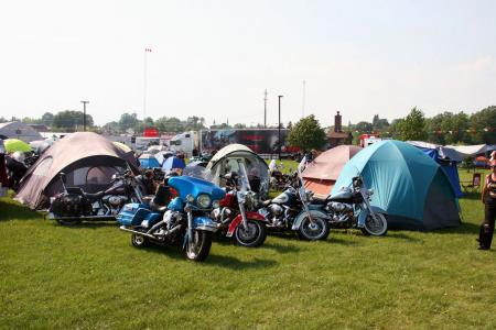 Motorcycle riders camp out under the stars in Northern Ontario