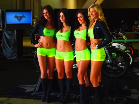 2011 Long Beach IMS Brammo Girls