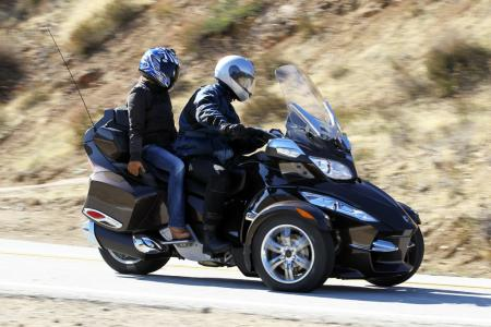 2012 Can-Am Spyder RT with passenger