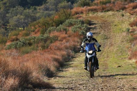 2012 BMW G650GS Sertao Action headon