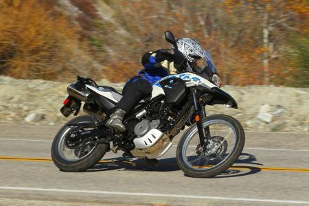 2012 BMW G650GS Sertao cornering