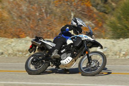 2012 BMW G650GS Sertao lean right
