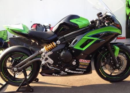 2012 Kawasaki Ninja 650 Black Green