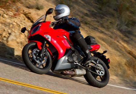 2012 Kawasaki Ninja 650 Red Action