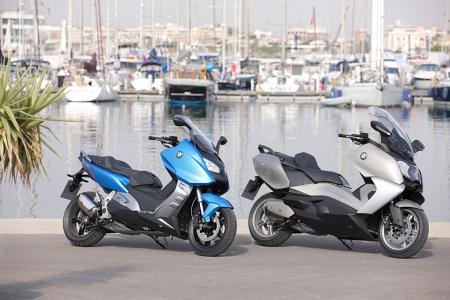 2012 BMW C600 Sport and C650 GT side by side