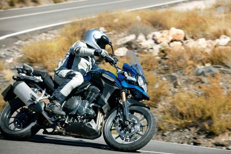 2012 Triumph Tiger Explorer action