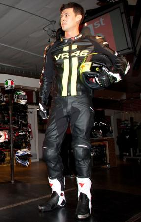 2012 Dainese VR46 jacket Torque Pro Out boots Druids gloves
