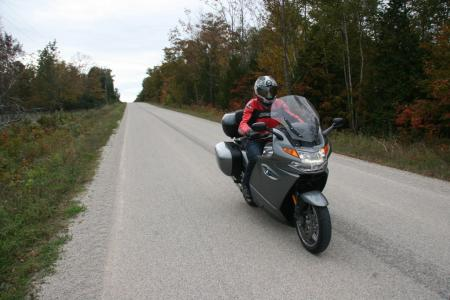 Riding BMW K1300GT in Ontario