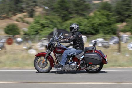 2012 Harley-Davidson CVO Softail Convertible red left action