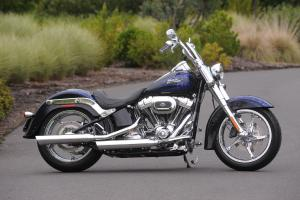 2012 Harley-Davidson CVO Softail Convertible right side blue