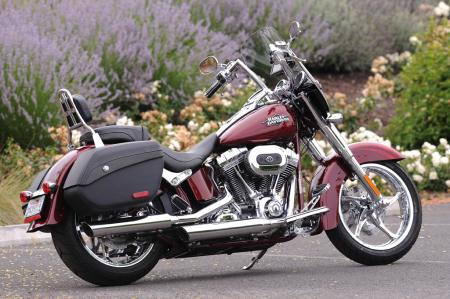 2012 Harley-Davidson CVO Softail Convertible right side red 9569