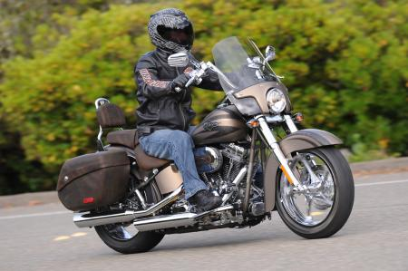2012 Harley-Davidson CVO Softail Convertible pewter action
