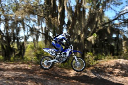 2012 Yamaha WR450F in the air