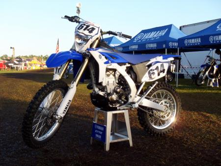 2012 Yamaha WR450F on stand