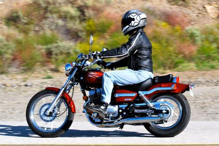 2012 Honda Rebel Left Action