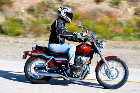 2012 Honda Rebel Right Action