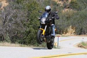 2012 650 Adventure Touring Shootout Kawasaki Versys Wheelie