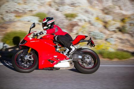 2012 Ducati 1199 Panigale S cornering right