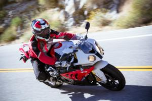 2012 BMW S1000RR lean right