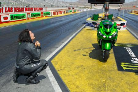 Kawasaki ZX-14R Zero to Hero Angie Young Celebrates