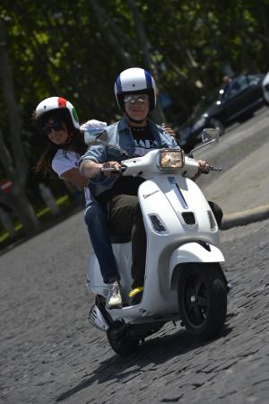 2013 Vespa S 150 Rider and Passenger