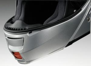 Shoei NEOTEC Silver Lower Vent Open