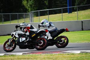 Racing Electric Motorcycles Close Racing