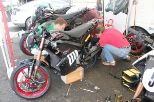 Racing Electric Motorcycles Swapping Gearing