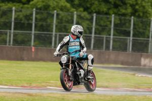 Racing Electric Motorcycles Rainy Track