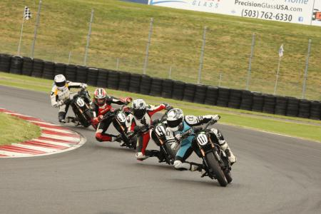 Racing Electric Motorcycles First Corner