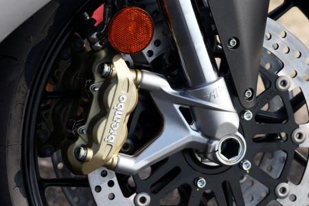 2013 MV Agusta F3 675 front brake close-up