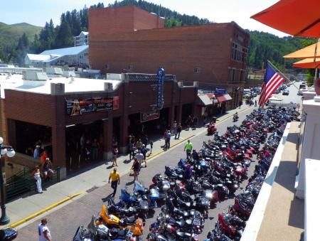 2012 Sturgis Motorcycle Rally Crowded Street