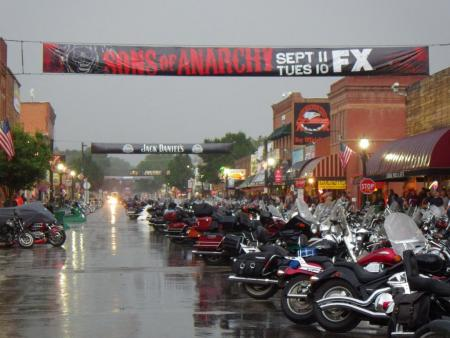 2012 Sturgis Motorcycle Rally Rain in Sturgis