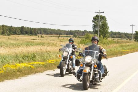 Sceninc Motorcycle Ride Manitoulin