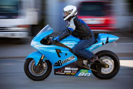 Lightning Electric Motorcycle Action Left
